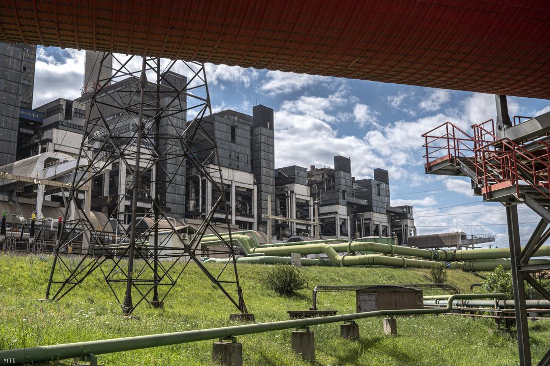 A Mátrai Erőmű Zrt. visontai üzeme 2020. július 8-án