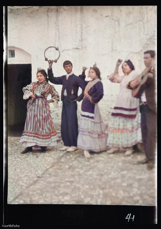 Flamenco-előadók egy kis faluban.