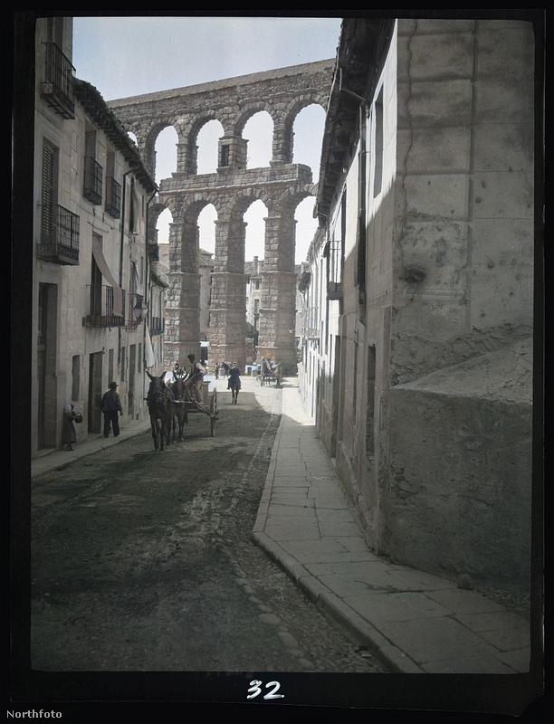 Segovia római vízvezetéke - és újabb szamarak.