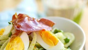 Ezt a húsvéti salátát tormás öntettel készítettük el