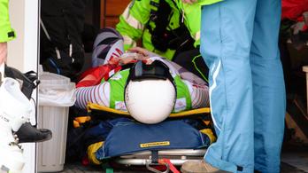 Lábtörés, mentőhelikopter a magyar alpesisí-bajnokságon