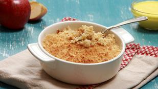 Sós crumble kelkáposztával – egy kevés füstölt sonkával lesz igazán finom