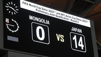 Japán labdarúgócsapata 14–0-ra nyert világbajnoki selejtezőn