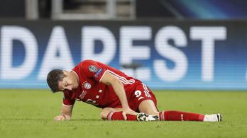 Bajban a Bayern, súlyos Lewandowski sérülése