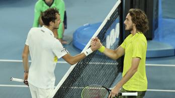 Medvegyev és Cicipasz is negyeddöntős Miamiban