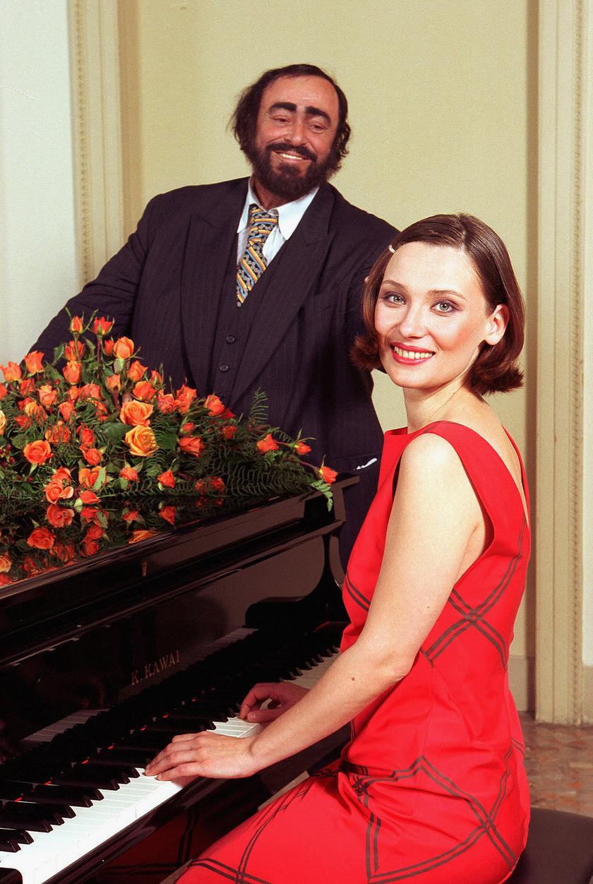 Pavarotti és Nicoletta.