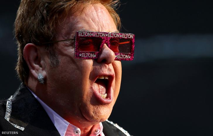 Elton John a Montreux-i Dzsesszfesztiválon 2019 június 29-én.
