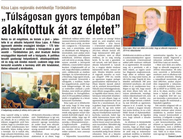 Az Érdi Újság cikke
