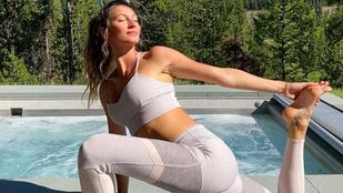 Modellek, színészek, kobra és lefelé néző kutya: íme 10 jógázó híresség mindenféle pózokban