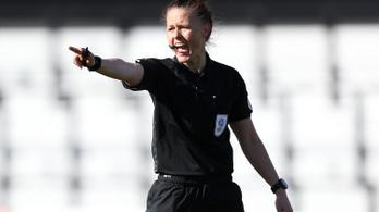 Először vezetett nő egy férfi futballmeccset Angliában
