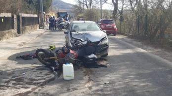 Részeg autós gázolt el fékezés nélkül egy motorost Csobánkán
