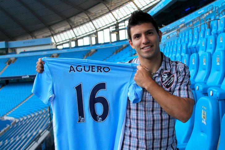 Sergio Agüero 2011-ben igazolt a Manchester Cityhez