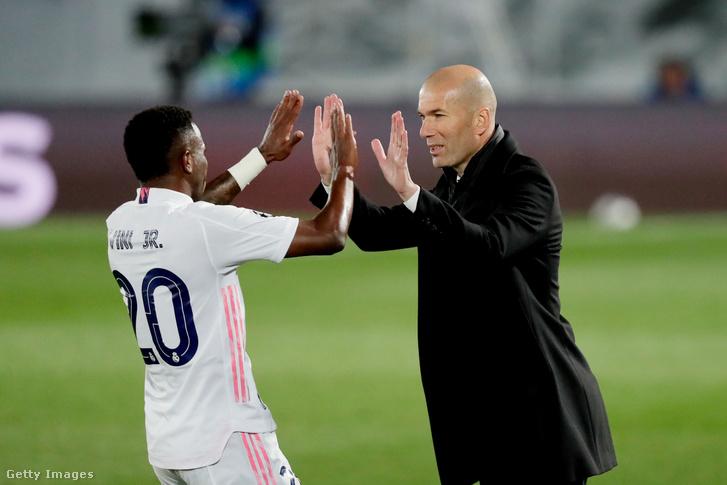 Zidane a duplázó Viníciust is dicsérte