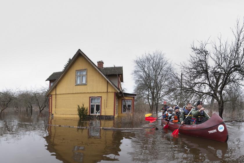 Az áradás 2010 áprilisában.