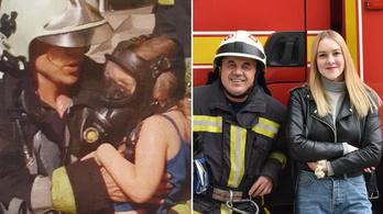 Tizennégy évvel ezelőtt megmentett lány kopogtatott a debrceni tűzoltók ajtaján