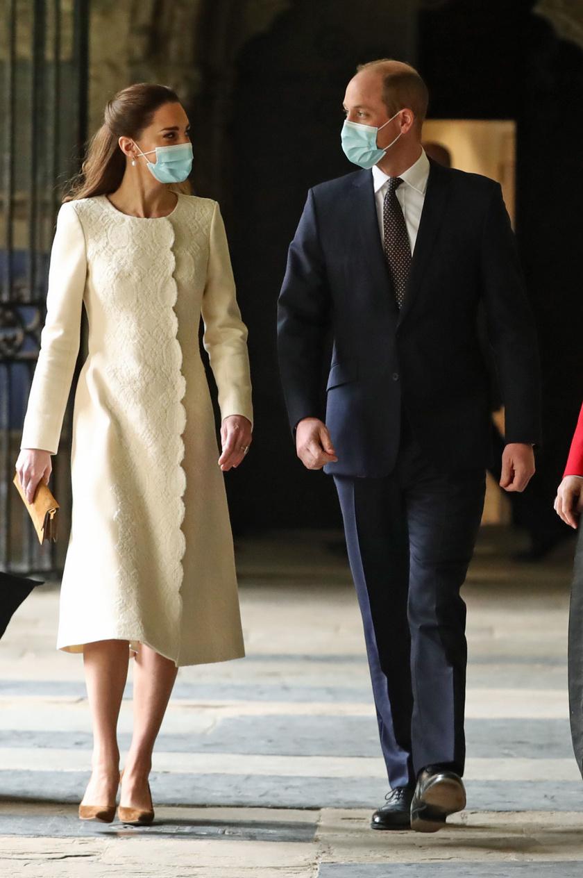 Katalin és Vilmos a Westminster-apátságban jártak márciusban.