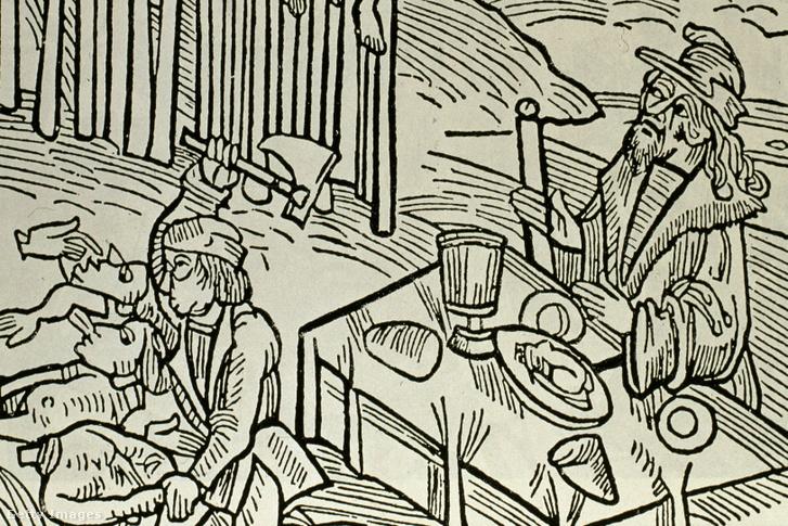 Vlad a karóbahúzottak és feldarabolt holttestek társaságában étkezik