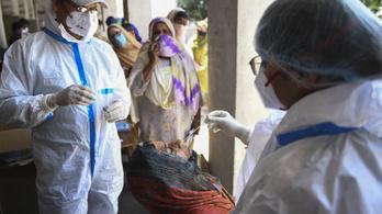 India: 24 óra alatt 132 ezer új fertőzött