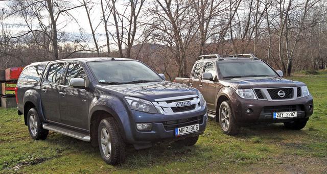 Pufi mackónak látszik a Nissan mellett az Isuzu, pedig a méreteik nagyjából azonosak