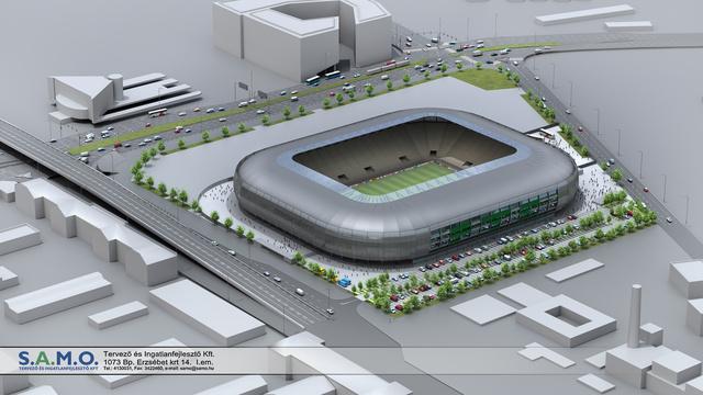 FTC stadion külső látványterv