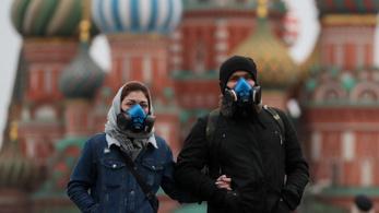 Javul az orosz Covid-helyzet: tavaly októberben volt ennyi aktív fertőzött