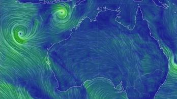 Két ciklon csap le Ausztráliára, ha összeolvadnak, pusztító vihar jöhet