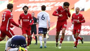 A hosszabbításban nyert, megszakadt a Liverpool rossz hazai sorozata