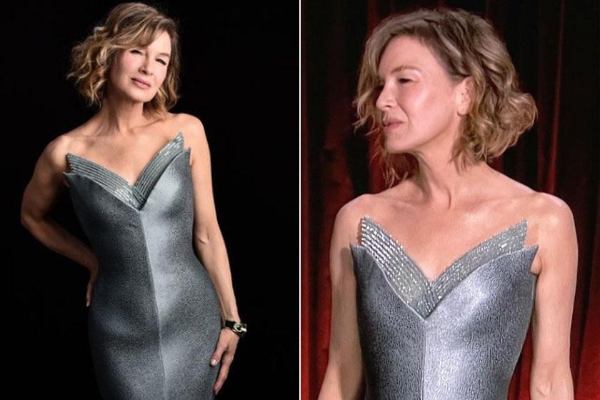 Renée Zellweger egy Giorgio Armani estélyiben ragyogott.