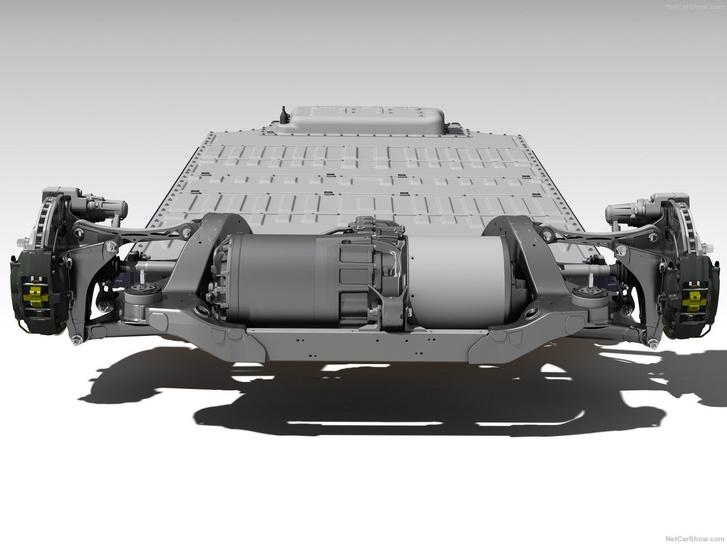 Zseniális mérnöki húzás, hogy a motort és az elektronikát a hátsó kerekek közé dugták. Így elöl is maradt hely csomagtartónak