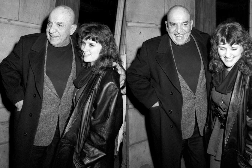 Telly Savalas és harmadik felesége 1988-ban.