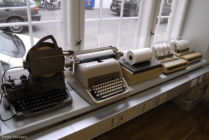 Használaton kívüli távírógépek Koppenhágában