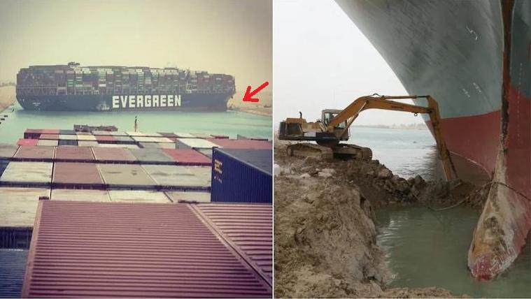 Hiába a világhír, ki sem fizették a Szuezi-csatornába szorult óriáshajót markolójával menteni igyekvő melós túlóráit