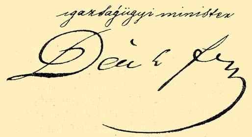 Deák Ferenc aláírása