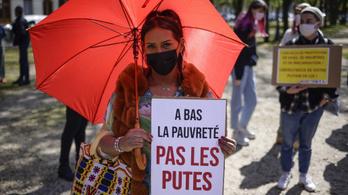 Francia szexmunkások tüntettek az ügyfeleik büntethetősége ellen