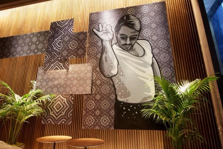 Az eredeti festmény Miamiban