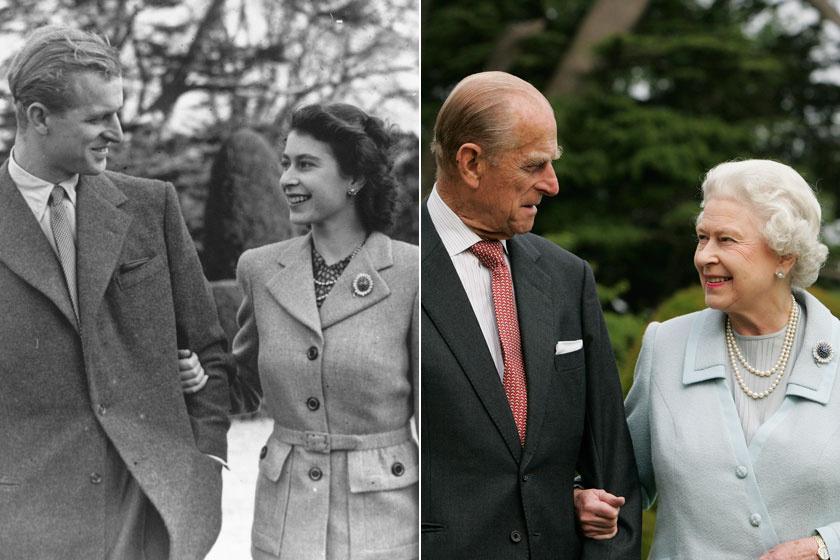 A bal oldali felvétel a nászútjukon, 1947-ben, a jobb oldali 2007-ben készült róluk. Ennyi év elteltével sem múlt el az egymás iránt érzett szeretetük.