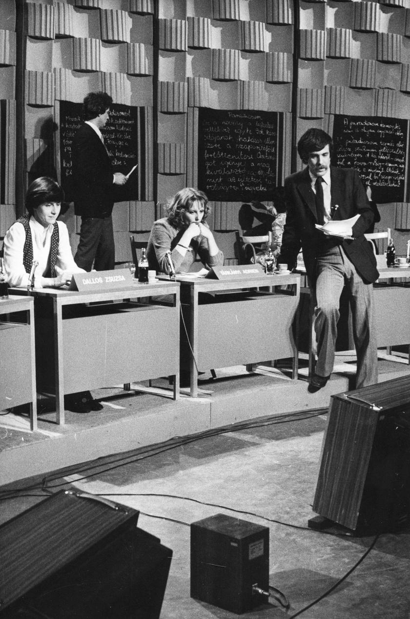 Déri János riporter 1981-ben a Magyar Televízió stúdiójában.