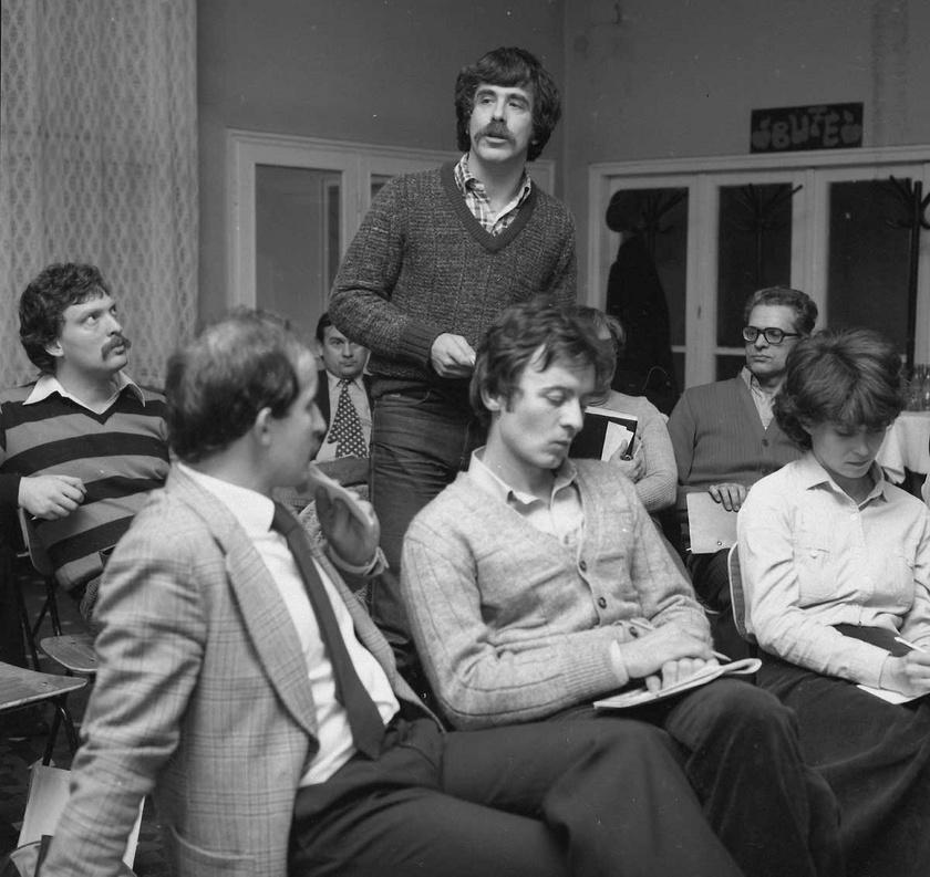 Déri János riporter 1981-ben.