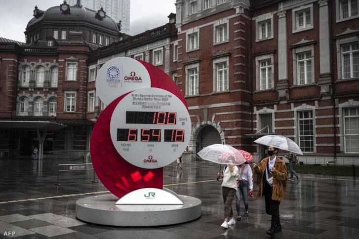 A Tokió 2020 olimpiai és paralimpiai játékok visszaszámlálója, 100 nappal a tokiói megnyitó előtt, 2021. április 14-én