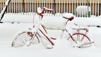 Képeken a tavasz tragédiája: hó takarja a Bakonyt, és ez így is marad