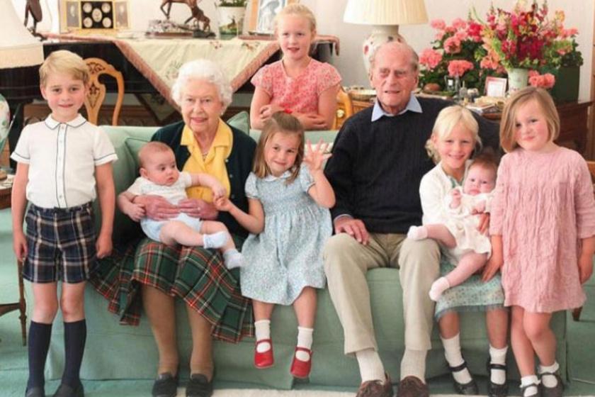 Ezt a fotót Katalin hercegné készítette még 2018-ban Erzsébetről, Fülöpről és a dédunokáikról.