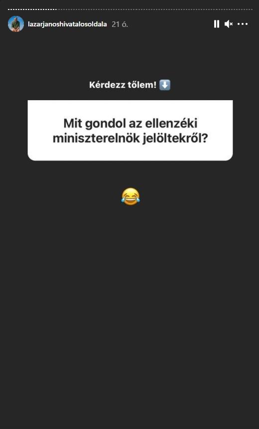 Fotó: Lázár János, instagram.com