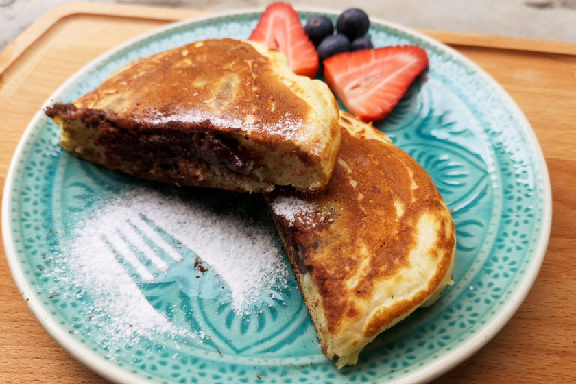 pudinggal töltött pancake recept