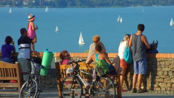 Egyre több a kerékpáros turista a Balatonnál