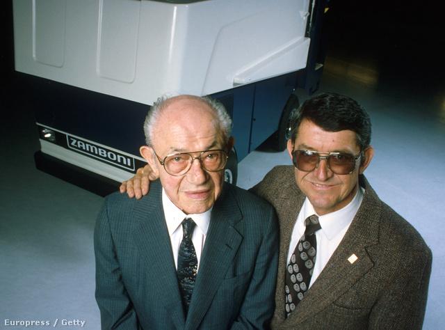 Frank Zamboni és fia Richard Zamboni