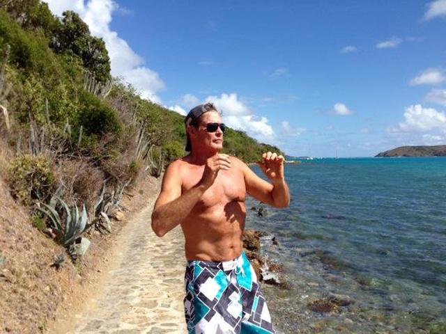 David Hasselhoff a Necker-szigeten