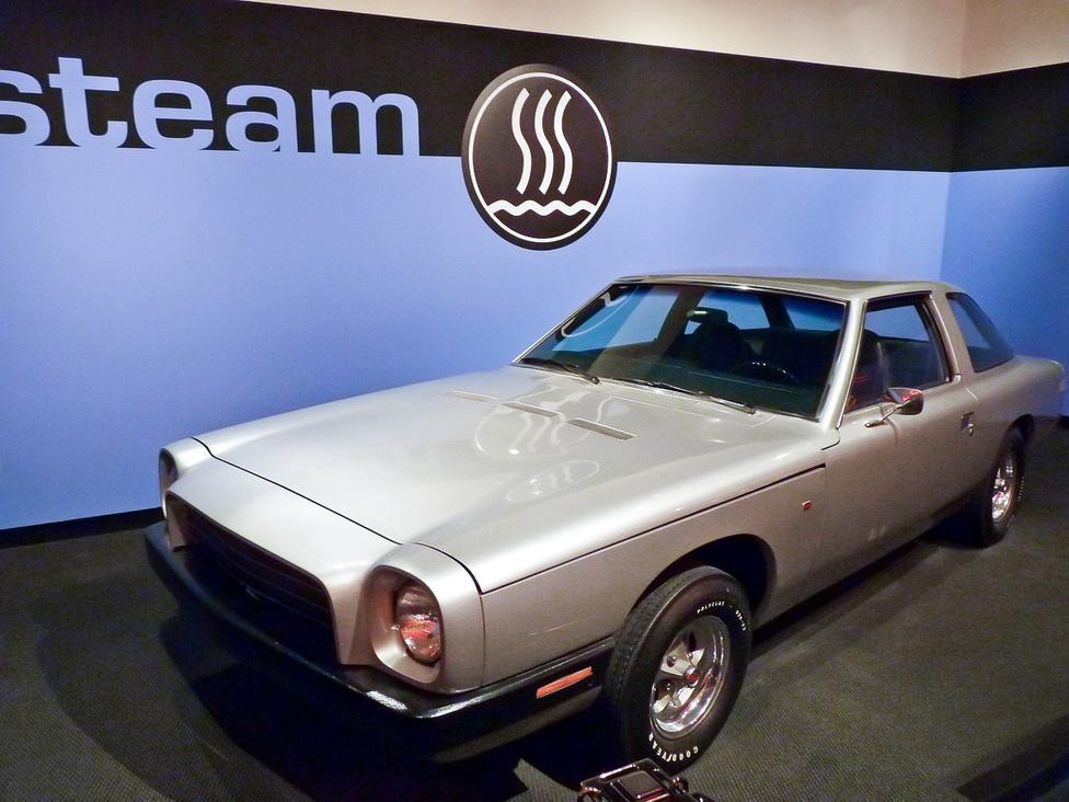 Kalifornia állam 1972-ben megbízást adott két cégnek gőzhajtású autók kifejlesztésére. Egyikük, a Dutcher Industries egy saját fejlesztésű alvázra építette rá a négyhengeres gőzmotort, melyet az International Harvester gőzgenerátora táplált. A szerkezetet egyedi gyártású, üvegszál-erősítésű karosszériával burkolták be. Bár az autóval folytatott menetpróbák biztató eredménnyel zárultak, a fogyasztók teljes érdektelensége miatt a gőzautók fejlesztése a kísérleti fázisnál befejeződött.