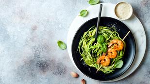 Cukkinitészta csilis garnélával – még egy remek fogás, amiben alig van kalória
