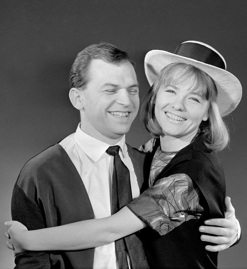 Törőcsik Mari és Bodrogi Gyula 1964-ben.