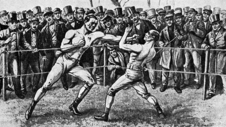 A leendő király is kíváncsi volt az illegális bokszmeccsre